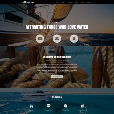 Yachting Responsive Joomla šablona