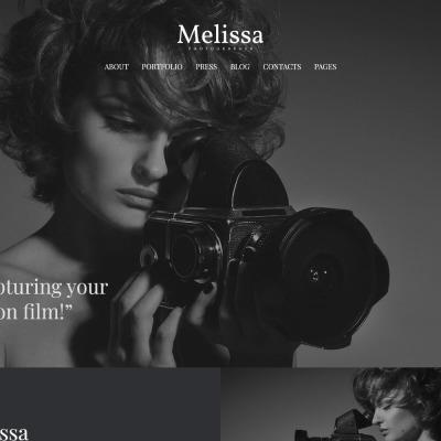 Photographer Portfolio Responsive WordPress шаблон