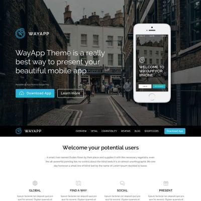 Thème WordPress adaptatif  pour site de société de logiciels
