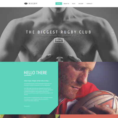 Rugby Responsive Website Template