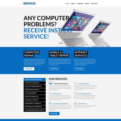 Thème WordPress adaptatif  pour site de services de réparation d'ordinateurs