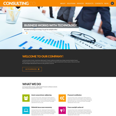 Consulting Templates Templatemonster
