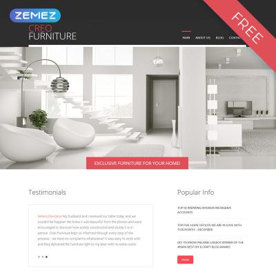 Interior & Furniture Responsive Joomla шаблон