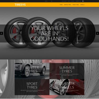 Wheels & Tires Responsive PrestaShop шаблон