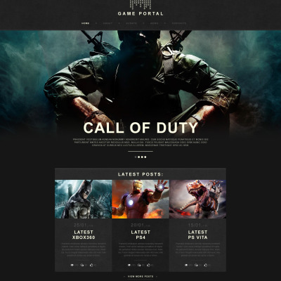 Game Portal Muse Template #53037