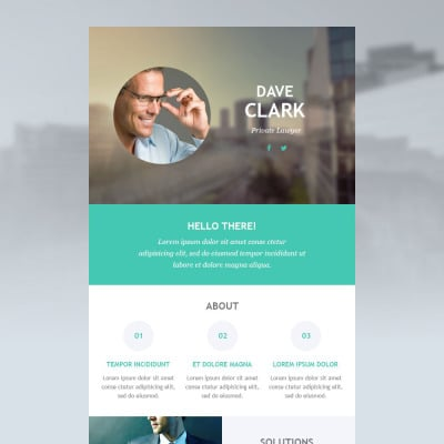 lawyer responsive newsletter template 53099