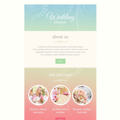 Wedding newsletter templates templatemonster for Bridesmaid newsletter template