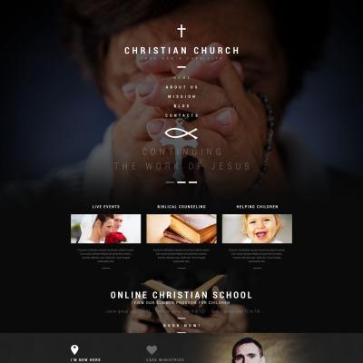 Thème WordPress adaptatif  pour site chrétien
