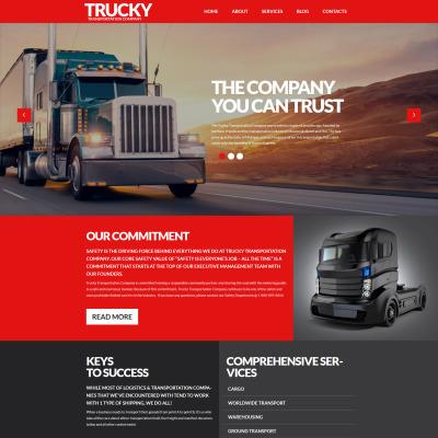 Thème WordPress adaptatif  pour site de services de camionnage