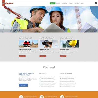 Flexível template Drupal №53555 para Sites de Empresa de Construção Civil