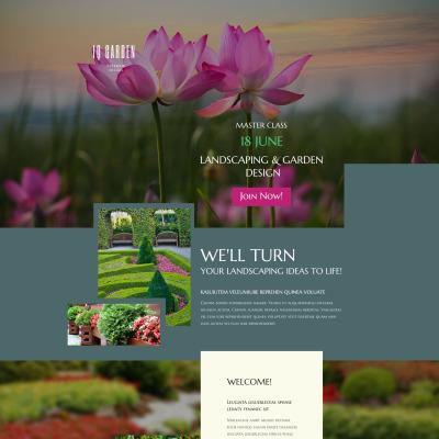 Responsives Landing Page Template für Außendesign