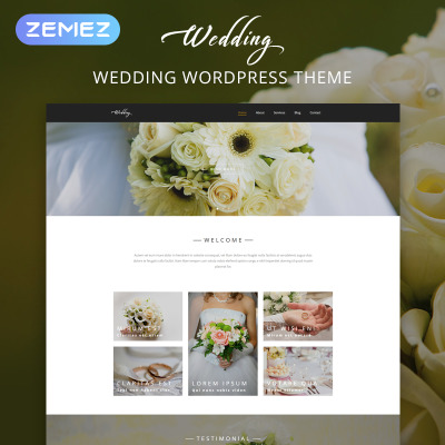 Thème WordPress adaptatif  pour site d'organisation de mariages