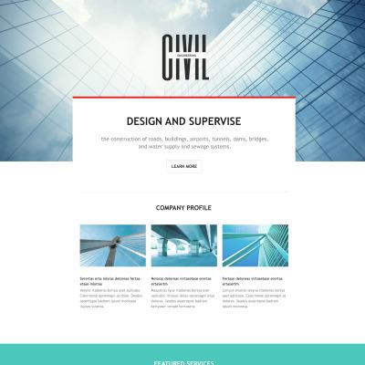 Responsives Landing Page Template für Architektur