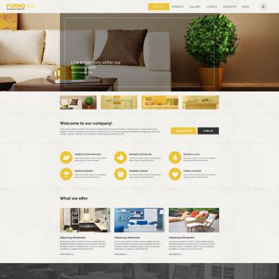 Flexível template Drupal №54608 para Sites de Interior e Móveis