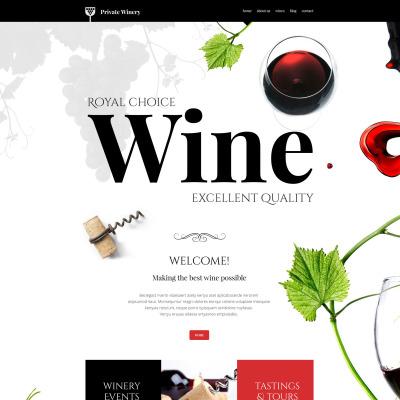 Thème WordPress adaptatif  pour site de domaine viticole
