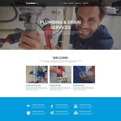 Plumbing Responsive Šablona Webových Stránek
