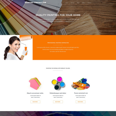 painting company website templates. Black Bedroom Furniture Sets. Home Design Ideas