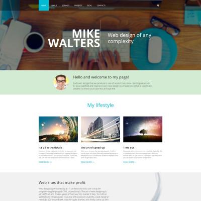 Flexível template Drupal №55363 para Sites de Portfólio de Designer