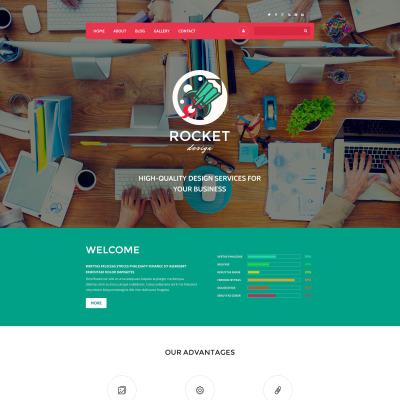 Flexível template Drupal №55557 para Sites de Web Design