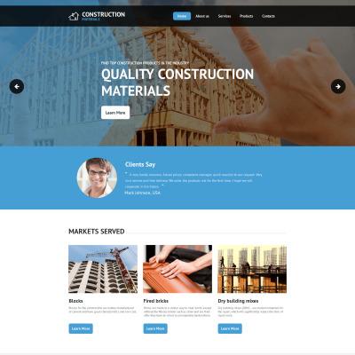 Construction Company Templates Templatemonster