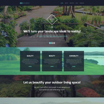 Flexível template Drupal №55960 para Sites de Design externo