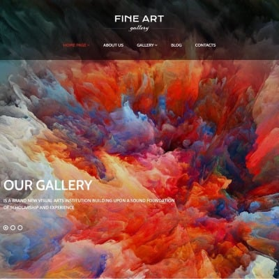 Thème WordPress adaptatif  pour galerie d'art