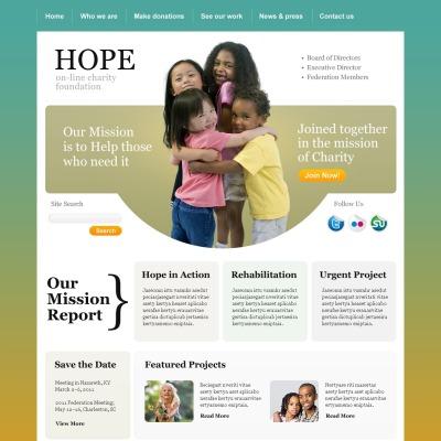 Plantilla PSD #56986 para Sitio de Caridad para niños