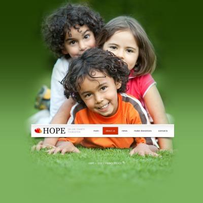 Plantilla PSD #57019 para Sitio de Caridad para niños