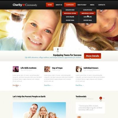 Plantilla PSD #57223 para Sitio de Caridad para niños