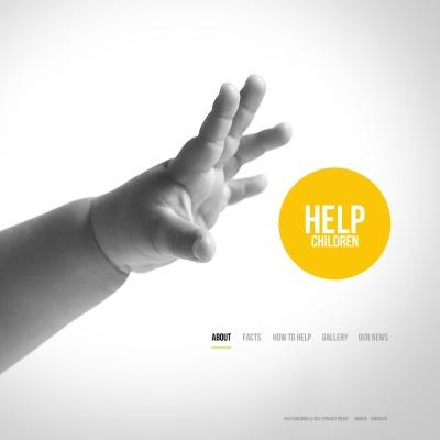 Plantilla PSD #57264 para Sitio de Caridad para niños