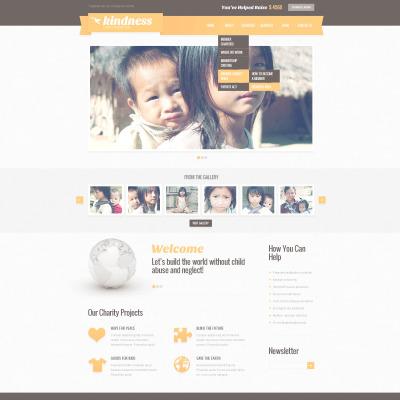 Plantilla PSD #57419 para Sitio de Caridad para niños