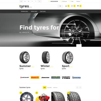 Wheels & Tires Responsive OpenCart шаблон