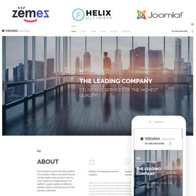 Flexível template Joomla №57762 para Sites de Negócios e Prestadores de Serviços
