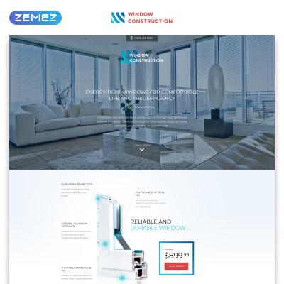 Responsives Landing Page Template für Fenster