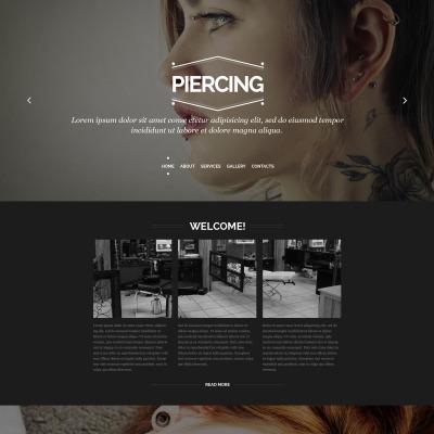 Piercing Shop Responsive Website Template