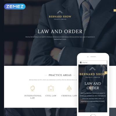 Lawyer Responsive Joomla šablona