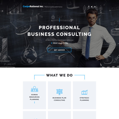Consulting Template Di Landing Page