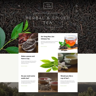 Tea Shop Responsive Tema Shopify