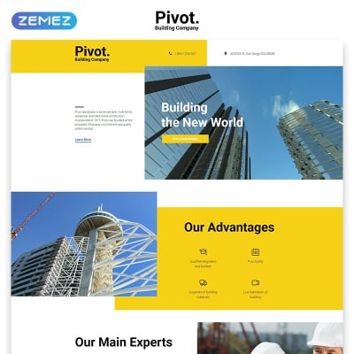 Landing Page Template für Baufirma
