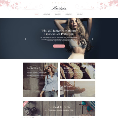 Fashion Blog Responsive WordPress Motiv