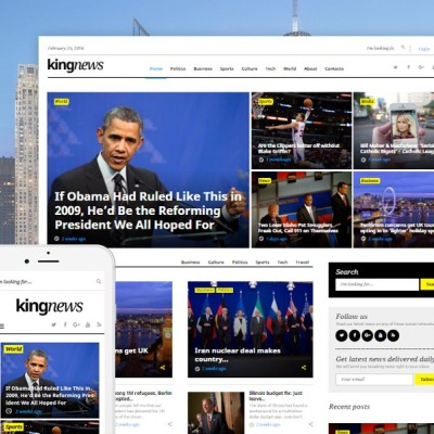 News Portal Responsive WordPress Motiv