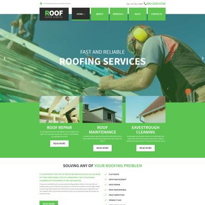 Thème WordPress adaptatif  pour société de toiture