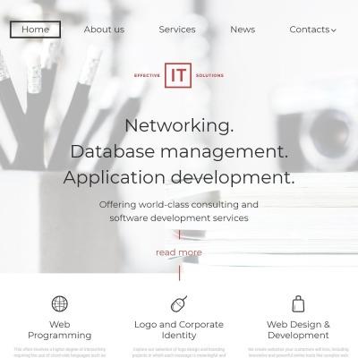 Thème WordPress adaptatif  pour sites IT