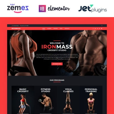 Fitness Responsive WordPress Motiv