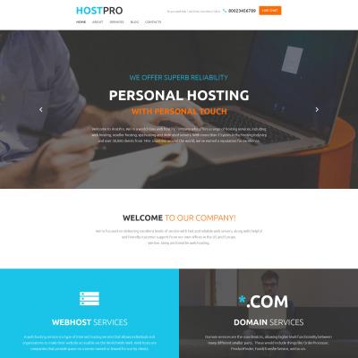 Thème WordPress adaptatif  pour site de société d'hébergement