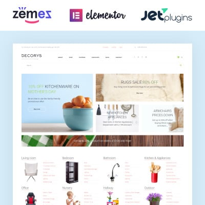 Home Decor Responsive WooCommerce Sablon