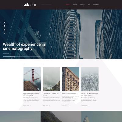 Thème WordPress adaptatif  pour site de photographies
