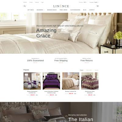 Linen & Lace Responsive PrestaShop шаблон