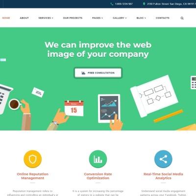 SEO Website Responsive Šablona Webových Stránek