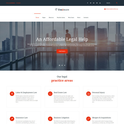 Law Firm Responsive WordPress Motiv